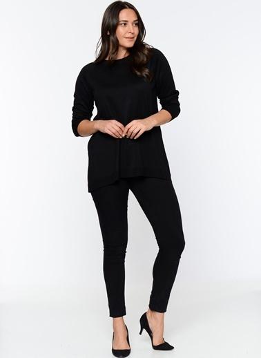 Butik Triko 2316 Basic Bluz Siyah
